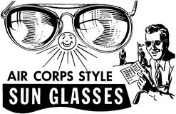 Mens Air Corps Sunglasses Stock Photo