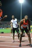 Mens alegre el 100m de Tyson Asafa Powell fotografía de archivo libre de regalías