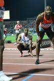 Mens alegre el 100m de Tyson Asafa Powell foto de archivo libre de regalías