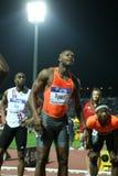Mens alegre el 100m de Tyson Asafa Powell Michael Rodgers fotografía de archivo libre de regalías