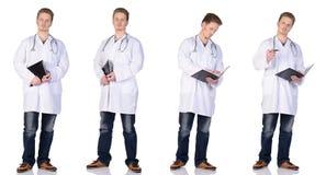Mens arts in wit. Groep Royalty-vrije Stock Afbeelding