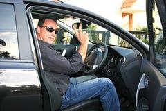 Mens in auto Royalty-vrije Stock Foto