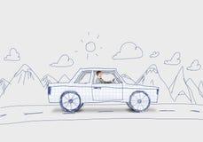 Mens in Auto Royalty-vrije Stock Afbeeldingen