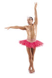 Mens in ballettutu Royalty-vrije Stock Afbeelding