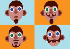 Mens beard styles 2 Royalty Free Stock Photos