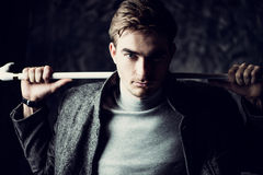 Mens beauty portrait Royalty Free Stock Images