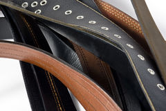 Mens Belts. Isolated on white background Stock Image