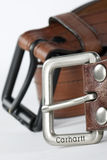 Mens Belts Stock Photography