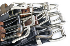 Mens Belts Royalty Free Stock Photography