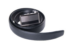 Mens belts on a background Royalty Free Stock Photo