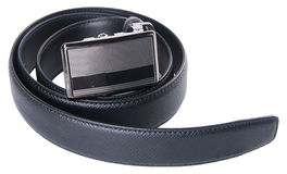 Mens belts on a background Stock Photos