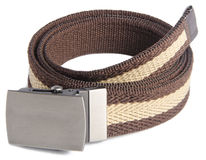 Mens belts on a background Stock Images