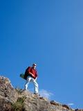 Mens in berg Royalty-vrije Stock Afbeelding