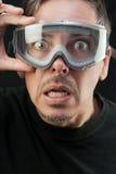 Mens in Beschermende brillen Royalty-vrije Stock Afbeeldingen