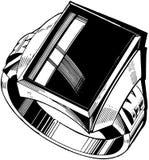 Mens Black Diamond Ring Stock Photos