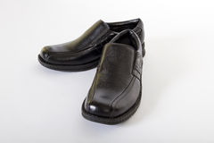 Mens Black Leather Shoes Royalty Free Stock Images