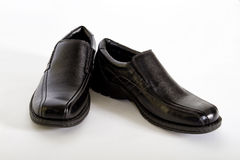 Mens Black Leather Shoes Stock Photography