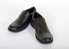 Mens Black Leather Shoes Royalty Free Stock Photography
