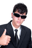 Mens in black parody Royalty Free Stock Photography