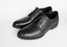 Mens black shoes Stock Images