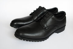 Mens black shoes Royalty Free Stock Photo