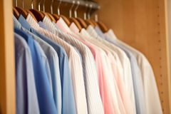 Mens blouses in a row Stock Photos
