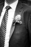 Mens Boutonniere on Suit Jacket Royalty Free Stock Photos