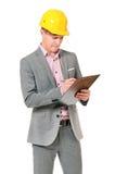Mens in bouwvakker Stock Foto