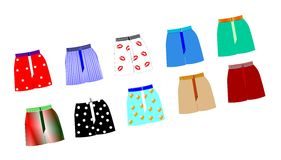 Mens boxer shorts Stock Photo