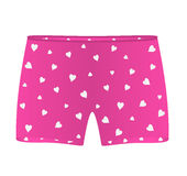 Mens boxer shorts with white hearts Royalty Free Stock Photography