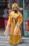Mens in Chinees traditioneel kostuum Royalty-vrije Stock Afbeeldingen