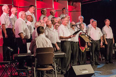 Mens Choir Singing Royalty Free Stock Photography