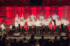 Mens Choir Singing Public Royalty Free Stock Photos