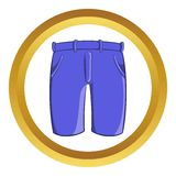 Mens classic shorts vector icon Royalty Free Stock Photography