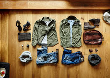 Mens clothes and accessories Royalty Free Stock Image