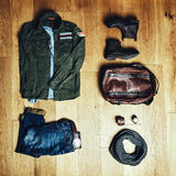 Mens clothes and accessories Stock Photography