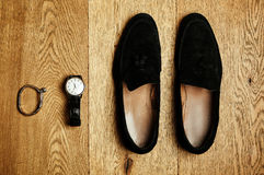 Mens clothes and accessories Royalty Free Stock Photos
