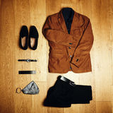 Mens clothes and accessories Royalty Free Stock Photography