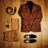 Mens clothes and accessories Stock Image