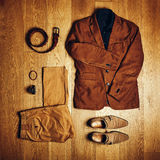 Mens clothes and accessories Stock Photos