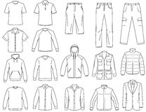 Men's clothes illustration Stock Photo