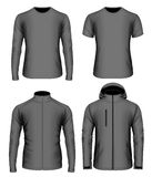 Mens clothes vector collection black Royalty Free Stock Photography