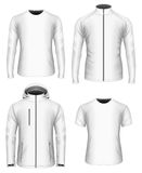 Mens clothes vector collection. White Stock Photo