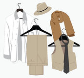Mens clothing in classical style Stock Photo