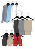 Mens clothing in classical style Royalty Free Stock Photo