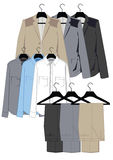 Mens clothing in classical style Royalty Free Stock Image