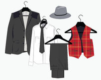 Mens clothing in classical style Royalty Free Stock Photos