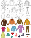 Mens clothing collection Stock Image