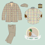 Mens clothing in country style Royalty Free Stock Photos