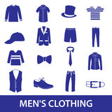 Mens clothing icon set eps10 Royalty Free Stock Photo